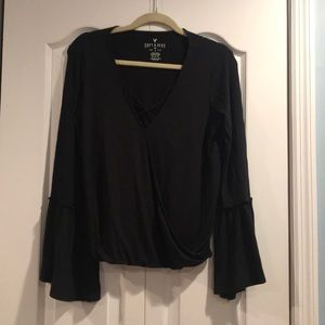 American Eagle Bell Sleeve Soft and Sexy Top